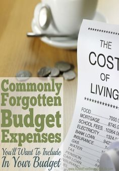 When we budget it's easy to remember the big items like rent, food, and the light bill.  But what about all those other expenses that can derail a budget is seconds flat?  Here's the most comprehensive list of budget items you've probably forgotten but sh
