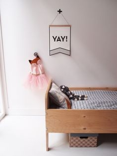A sweet and simple kids room. Childrens are so happy that they deserve a colorfull place to be in. Decorate your children room with colorfull chandeliers, and a modern bed. See more home design ideas at www.homedesignideas.eu