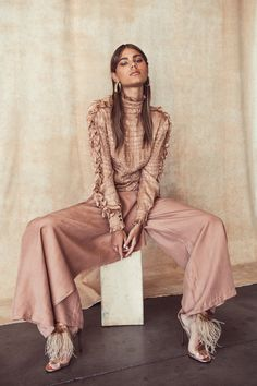 Silk Top, Vintage. Silk Pants, Gianfranco Ferre. Shoes, Brian Atwood #editorials #style #editoriasdemoda