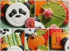 Chinese New Year Cookies Panda Bear Cookie 2 www.sweetsugarbelle.com