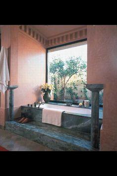 Amanjena Hotel , Marrakech, Marrocos - Banheira