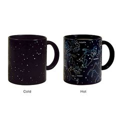 CONSTELLATION MUG.  The outlines appear when there's a hot liquid in the mug.