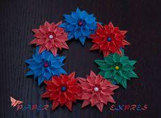 origami flower #wreath
