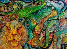 animals life psychedelic colors amazing Visuals age-of-awakening •