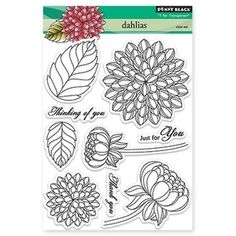 Penny Black Clear Stamps DAHLIAS 30-159 Preview Image