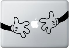 Mickey Mouse Hands Macbook Decal Laptop Sticker Comic Humor Funny Vinyl Decal via Etsy