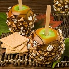 s'mores candied apples