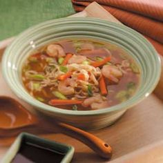 Try this Asian Ramen Shrimp Soup recipe for a quick and easy diabetic-friendly meal! #diabetes