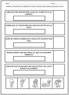 ARTES DA LIVIA: FOLCLORE BRASILEIRO - ATIVIDADES E DESENHOS PARA COLORIR
