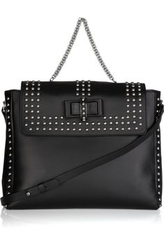 Christian Louboutin Sweet Charity Optic studded leather messenger bag
