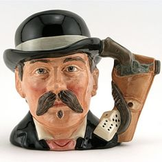 toby mug:  Doc Holliday Character Jug D6731 Royal Doulton The Wild West Collection