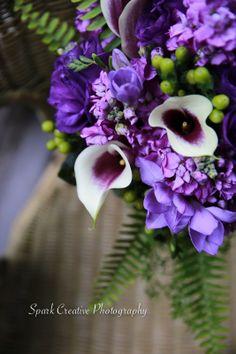 Wedding bouquet purple - Spark Creative Photography LLC www.sparkcreativephotography.com