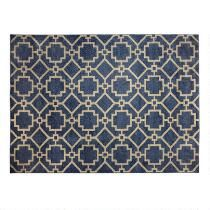"6'7""x9'6"" Frieze Blue Geo Area Rug"