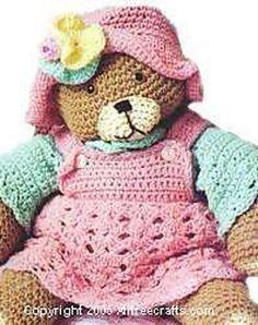 Teddy Bear By Kathy Wilson - Free Crochet Pattern - (allfreecrafts)