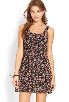 Wild Rose Babydoll Dress   FOREVER21 - 2000062391
