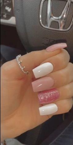 Blush Pink Nails, Pink Nail Colors, Yellow Nails, Purple Nails, White Nails, Neutral Colors, Edgy Nails, Oval Nails, Classy Nails