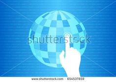 Blue Technology Touch World Background Vector Illustration Vector Technology, Touch, World, Illustration, Blue, Image, Illustrations, The World, Earth