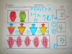 παιχνιδοκαμώματα στου νηπ/γειου τα δρώμενα: αγγεία, χρώματα, σχήματα και αριθμοί......... ένα κουβάρι στη στιγμή !!! Greek Mythology, Museums, Bullet Journal, Blog, Blogging, Museum