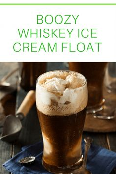 Boozy Whiskey Ice Cream Float. This dreamy, creamy treat is a twist on the old-fashioned root beer float from those carefree days of your youth.