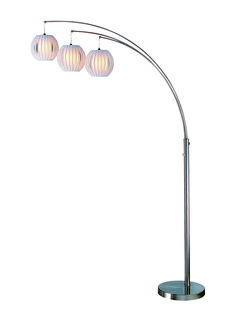 Home Accessories - Callisto Floor Lamp with White Shades (also have grey shades)