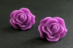 New to StumblingOnSainthood on Etsy: Lilac Rose Earrings in Silver Stud Earrings. Lilac Purple Flower Earrings. Lilac Flower Earrings. Flower Jewelry. Handmade Jewelry. (8.00 USD)