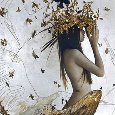 'The Near Far and Leading' [Oil gold & silver leaf on linen] by @bradrkunkle in beautiful.bizarre issue 012  Get the beautiful.bizarre art quarterly  IN PRINT VIA OUR STOCKISTS: http://ift.tt/ZtVEFU IN PRINT OR DIGITAL ONLINE: http://ift.tt/IUsDuk by beautifulbizarremagazine