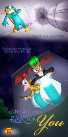 D The story takes place the summer BEFORE Phineas' Biggest Idea Ever. The Things I will Risk For You Disney Xd, Disney Fan Art, Disney And Dreamworks, Disney Cartoons, Disney Pixar, Best Cartoon Series, Phineas And Isabella, Phineas Et Ferb, Perry The Platypus