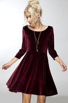 Full Flare Velvet Dress