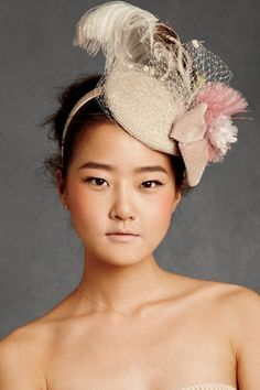 """I know it's a """"British"""" thing but I have decided everyone is required to wear fascinators to my wedding. They're just so chic and classic."""