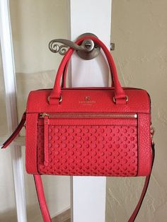 Kate Spade New York Perri Lane Bubbles Delaney Empire Red WKRU2867 $398.00 #katespade #ShoulderBag