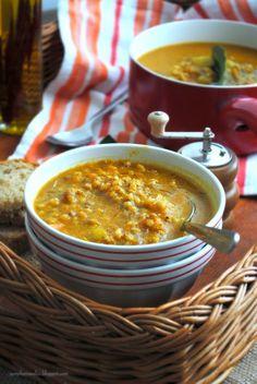 Pane, burro e alici: Zuppa di zucca e sorgo (con lenticchie, patate....)