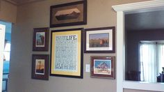 My kitchen display of art and photos from my home state of North Dakota. Includes limited edition prints by Gary Miller, an old photo of one of the family farmsteads, a photo of a field and hay bales by a ND photographer, and the Manifesto to keep me motivated.