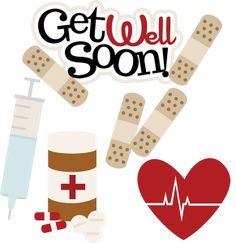THIS IS NOT FREE but it's way too cute not to share. I love this! Get Well Soon SVG doctor nurse sick day