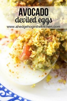 Avocado deviled eggs are a gourmet home cook's dream! They are easy to pull together, look beautiful as an appetizer and are so tasty. French Vegetarian Recipes, Easy Irish Recipes, Healthy Fruits, Healthy Eating Recipes, Healthy Snacks, Brunch Recipes, Appetizer Recipes, Snacks Recipes, Egg Recipes