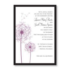 Pick a Posy Wedding Invitations
