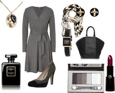 """A Grey Fall Day - work attire"" by bssam2 on Polyvore"