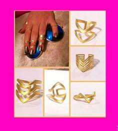 Gold Chevron Ring Gold Filled Double Chevron Ring 2 V Ring