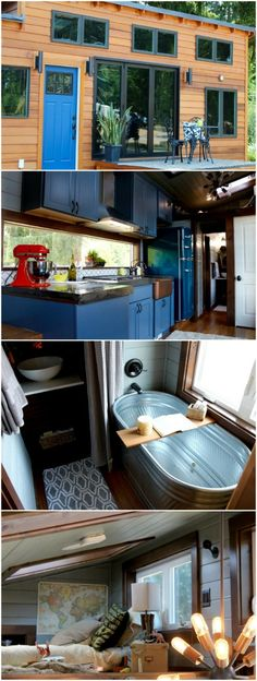 Tiny House for a Family of 5 - The Interior is so Spacious {Tiny Home Tour} - Having enough space for five people in any house seems difficult, particularly when that house is a tiny house. Well, the manufacturers at Tiny Heirloom did it, and they really did it in style. The company was tasked with creating a tiny house that would house five people…comfortably.