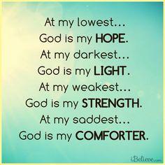 God is my...