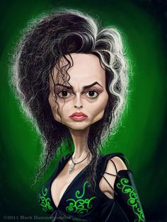 Caricatures by Mark Hammermeister-the one and only Bellatrix Lestrange