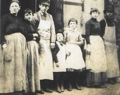 The Lustgarden family, circa 1887. The Lustgardens owned a Kosher butcher shop in the basement of 97 Orchard.