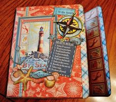 Adventures in Paperland - Tim Holtz's Collection Folio and Graphic 45's By The Sea paper collection