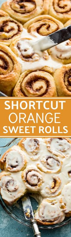 Fluffy, soft, sweet, and EASY orange sweet rolls! Only 1 rise so breakfast is on the table quicker! Recipe on sallysbakingaddiction.com