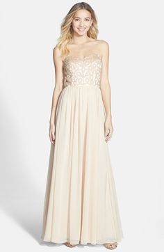 Xscape Embellished Chiffon Fit & Flare Gown available at #Nordstrom