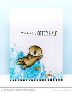 Otterly Love You Stamp Set - Francine Vuillème #mftstamps
