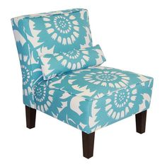 Aloha Accent Chair in Turquoise