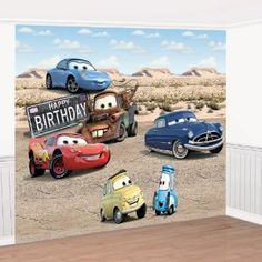 Disney Cars Giant Birthday Party Scene Setter Decorating Set 8' H x 12' L 69656 $19.99