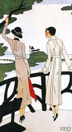 Art deco by marcy Art Deco Illustration, Fashion Illustration Vintage, Art Nouveau, Art Deco Posters, Vintage Posters, Mode Vintage, Vintage Art, Old Illustrations, Moda Art Deco