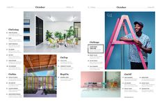 Magazine Layout Design, Typography Layout, Contents, Layouts, Editorial, March, Letters, Letter, Lettering