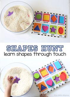 Shape Hunt Sensory Bin